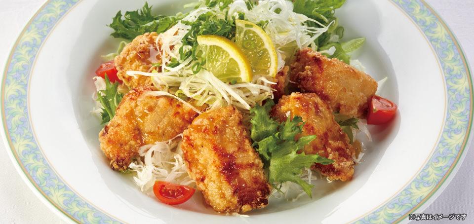 【レストラン ラコンテ】鹿児島県産若鶏の唐揚げのご紹介です